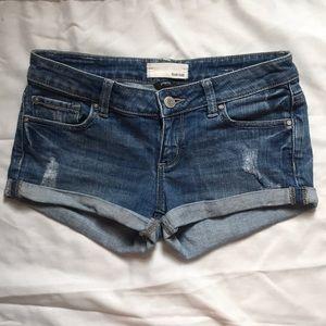 Garage, light wash jean shorts